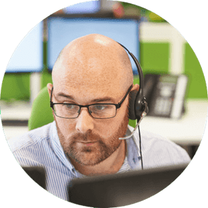 woman in mask online shopping