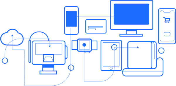 Illustration of various electronic devices