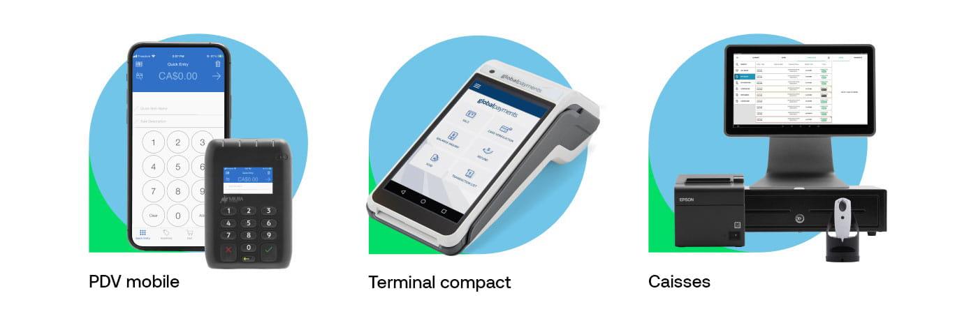 PDV mobile, Terminal compact, Caisses
