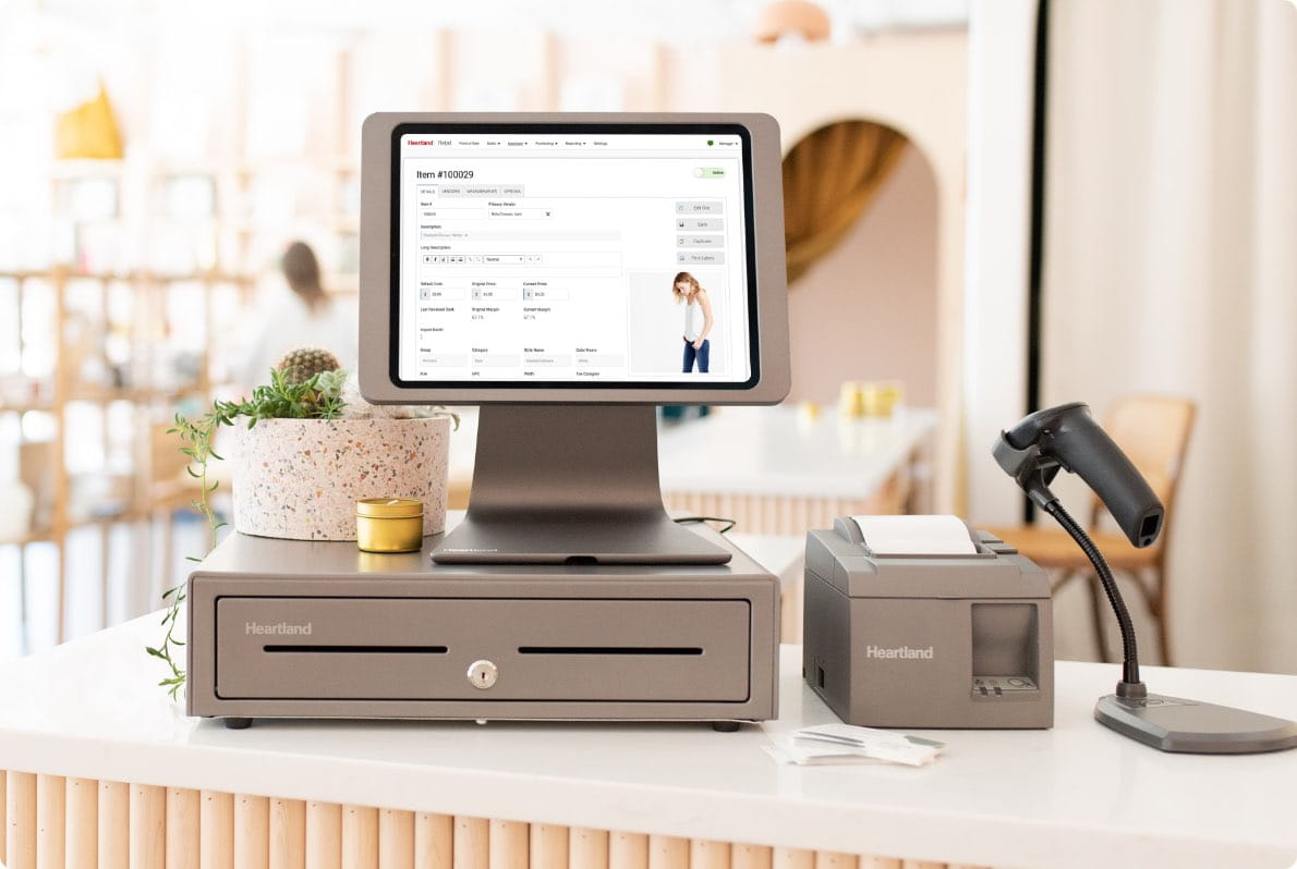 Retail technology solution and point of sale set up in a retail store