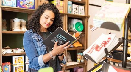 A customer browning books