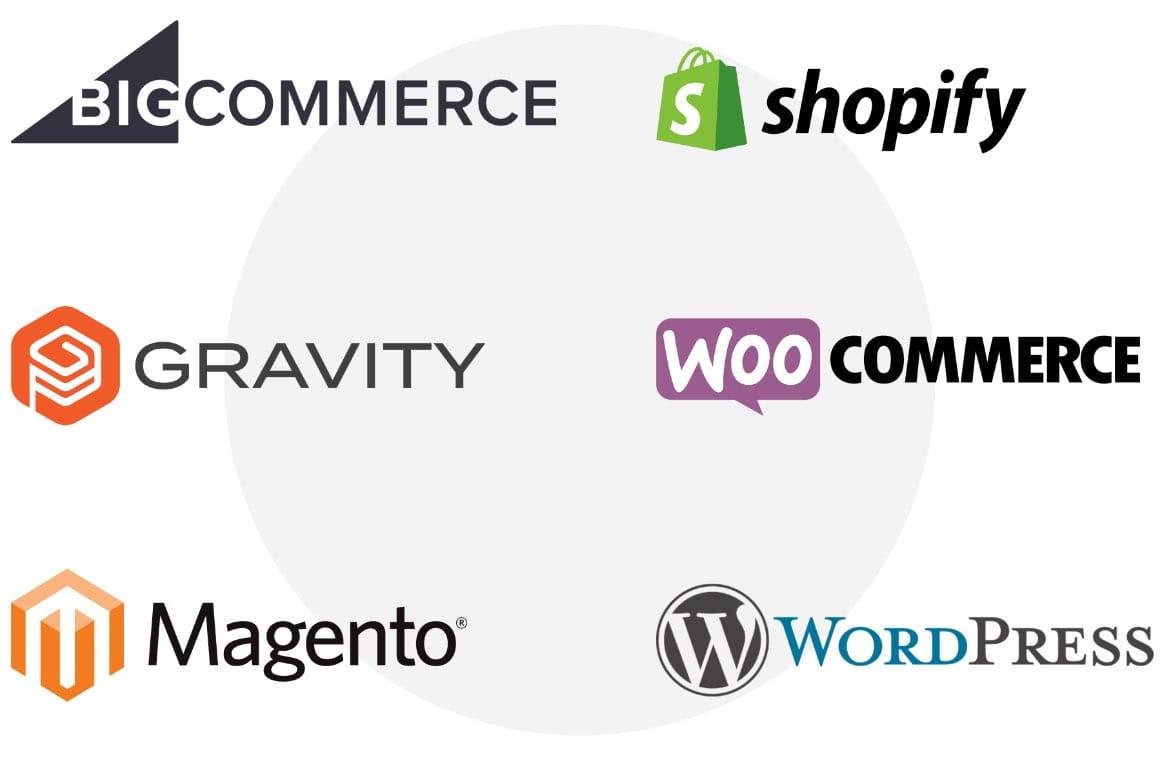 List of ecommerce platforms and shopping carts, BigCommerce, WooCommerce, Shopify, Gravity, Magento, WordPress