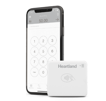 Heartland mobile pay hardware close up
