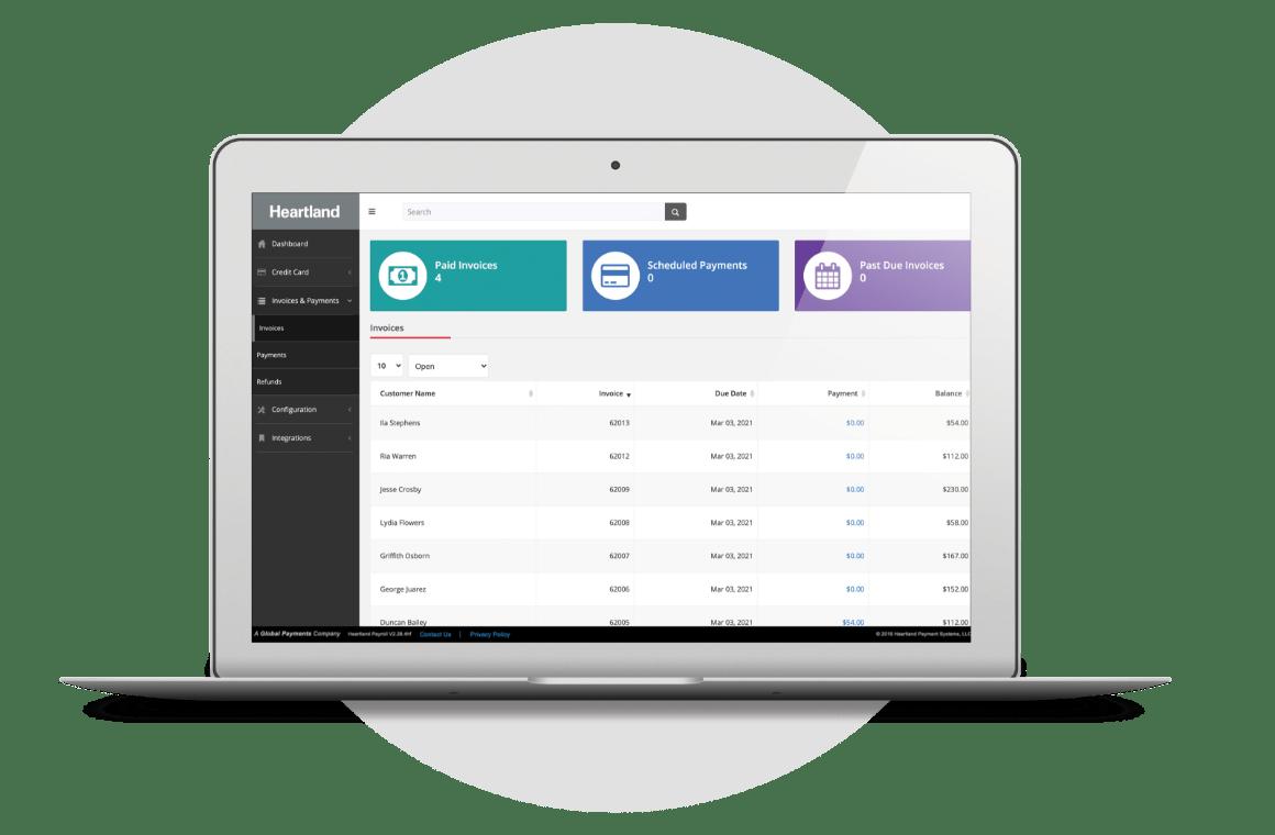 Payment processing tool close up