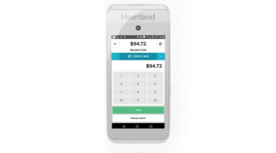 Mobile payment processing close up for retails