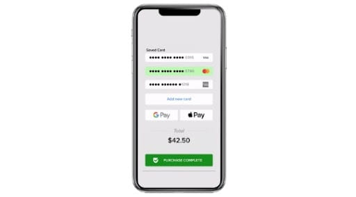 Close up of mobile payment processing product for service professionals
