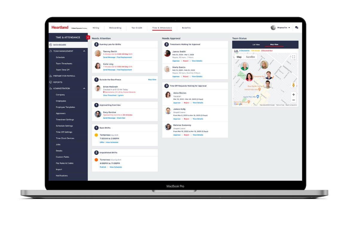 Heartland employee management software interface close up