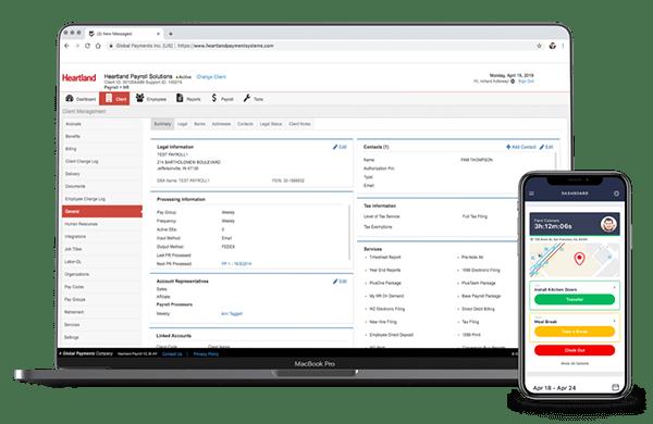 Heartland Payroll Solutions interface close up