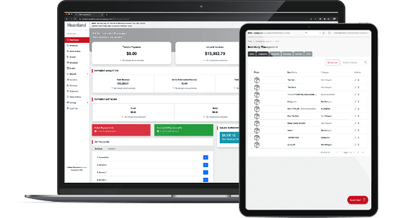 Handyman point of sale, payments, and payroll solutions software close up