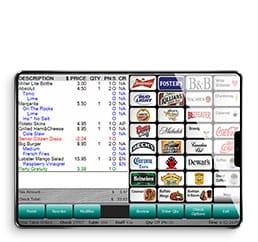 Digital Dining Tablet interface