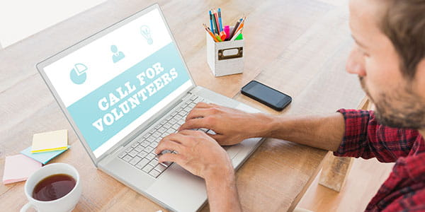 Use recruitment portals to find volunteers for your charity