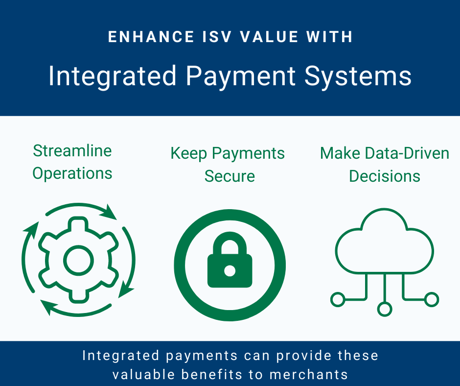 Three benefits of integrated payment systems that add ISV value