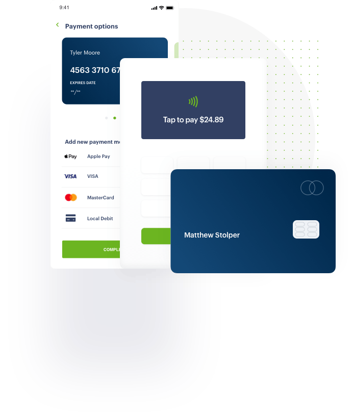credit card illustration from Global Payments Integrated