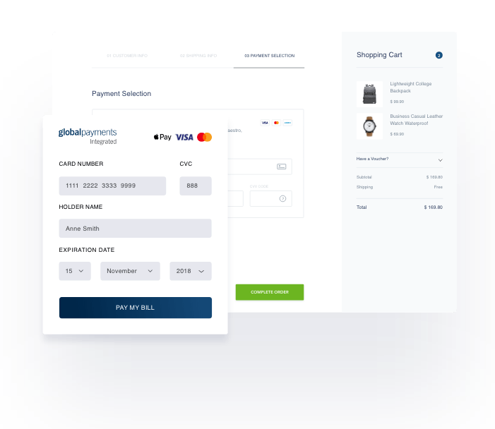 ecommerce payment illustration from Global Payments Integrated