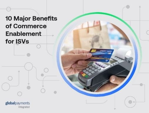 Image of the eBook front page, reading Ten Major Benefits of Commerce Enablement for ISVs