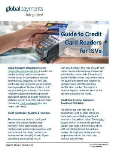 Image of Guide to Credit Card Readers for ISVs eguide