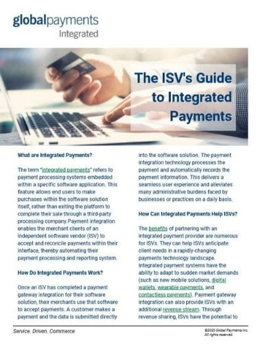 Image of The ISV's Guide to Integrated Payments eguide