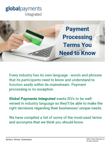 Screenshot of the first page of the Payment Processing Terms You Need to Know whitepaper