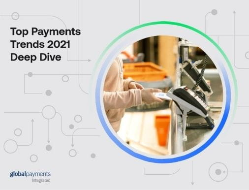 Image of the eBook front page, reading Top Payments Trends 2021 Deep Dive