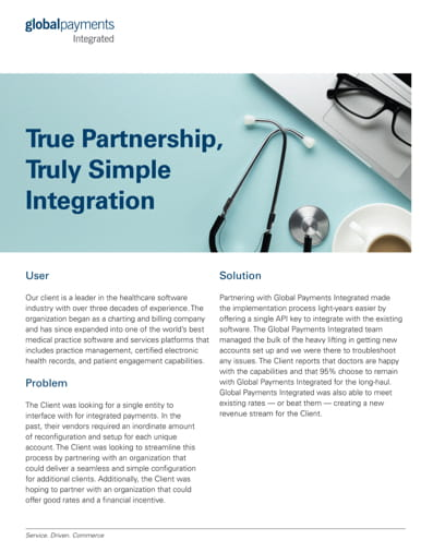 Global Payments Integrated healthcare payments processing case study
