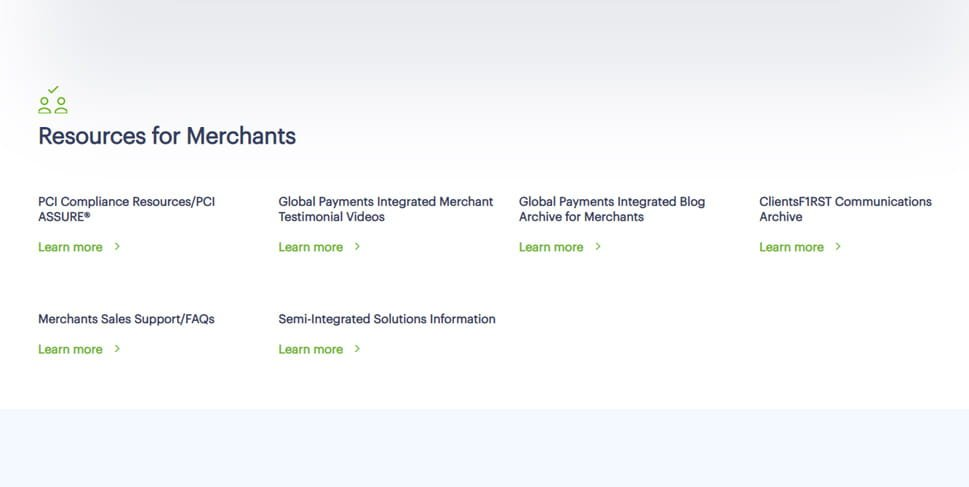 Resources for Merchants illustration from Global Payments Integrated