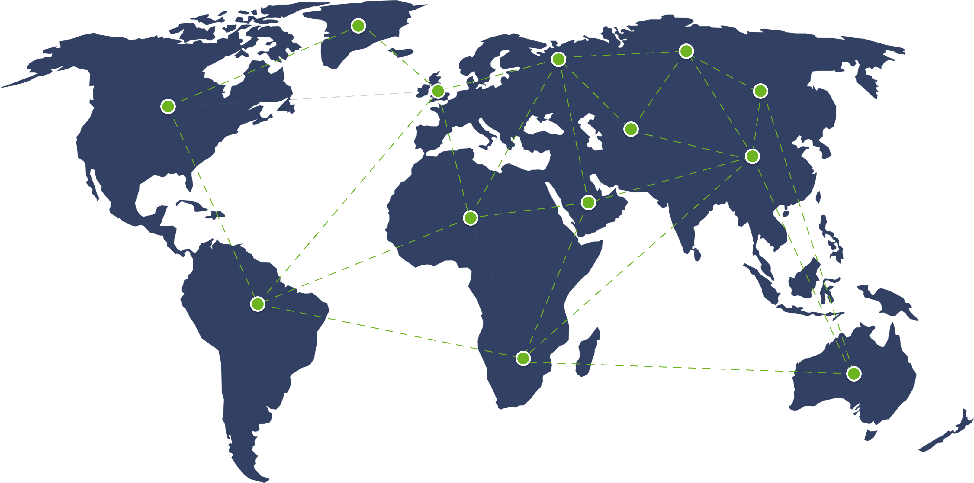 worldwide office locations map  from Global Payments Integrated