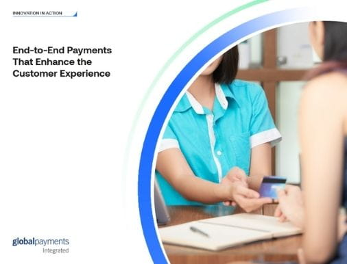 Image of the case study front page, reading End-to-End Payments That Enhance the Customer Experience